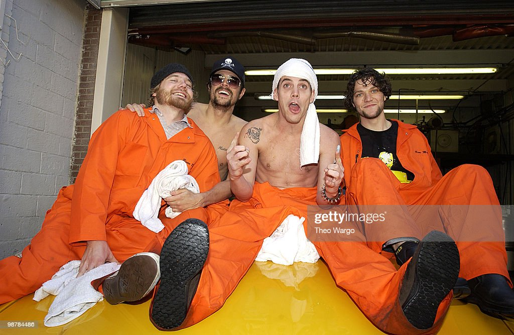 "Cast Members of ""Jackass: The Movie"" at the Carwash to Promote the New Movie"