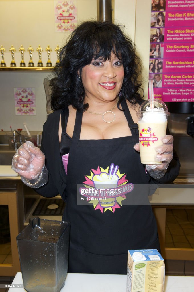 Jackee Harry unveils her own signature mikeshake the 'Jackee Frappe' at Millions of Milkshakes in support of Women's International Center on May 24, 2010 in West Hollywood, California.