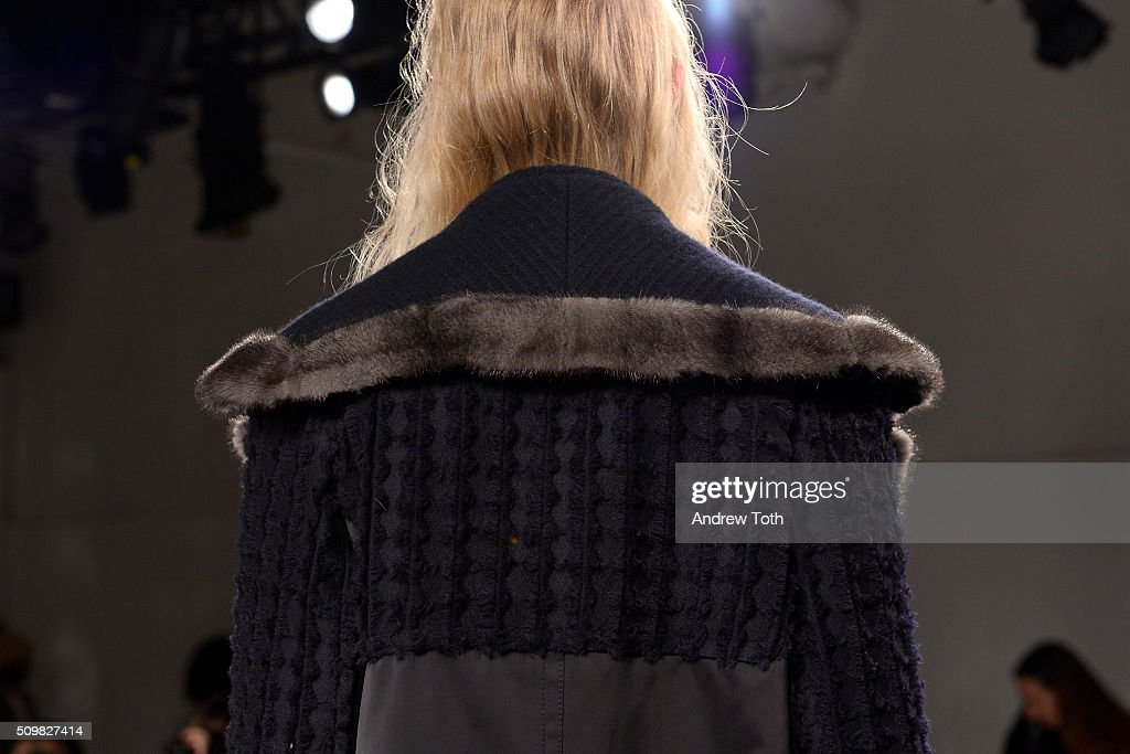A jacket detail of O'2nd Fall 2016 during New York Fashion Week: The Shows at The Space, Skylight at Clarkson Sq on February 12, 2016 in New York City.