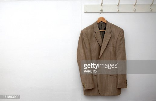 Jacket hanging on the wall