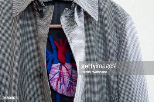 A  jacket with the applique of the internal organs : Stock Photo