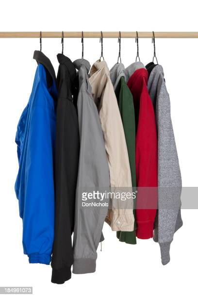 Jackets Hanging on Rack