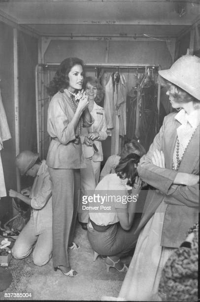 Jackets skirts pants interchange and dress up or down with ropes of beads bracelets and straw hats Credit Denver Post