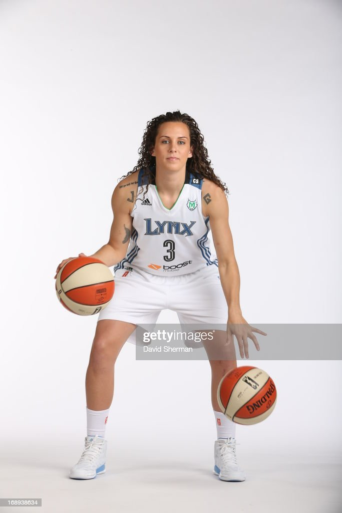 Jacki Gemelos #3 of the Minnesota Lynx poses for portraits during 2013 Media Day on May 16, 2013 at the Minnesota Timberwolves and Lynx LifeTime Fitness Training Center at Target Center in Minneapolis, Minnesota.