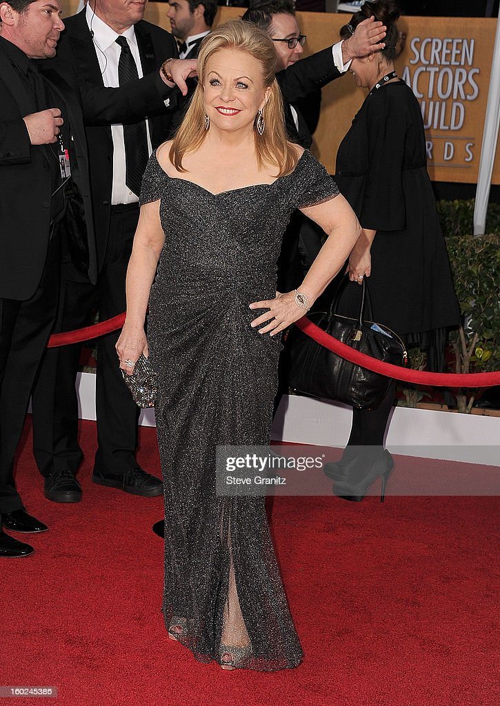 Jacki Weaver arrives at the 19th Annual Screen Actors Guild Awards at The Shrine Auditorium on January 27, 2013 in Los Angeles, California.