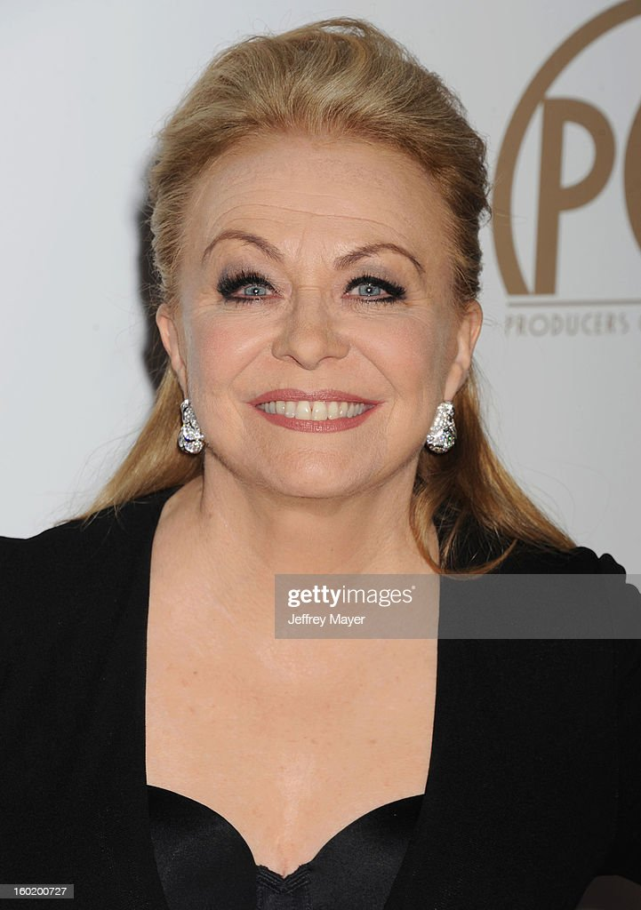 Jacki Weaver arrives at the 24th Annual Producers Guild Awards at The Beverly Hilton Hotel on January 26, 2013 in Beverly Hills, California.