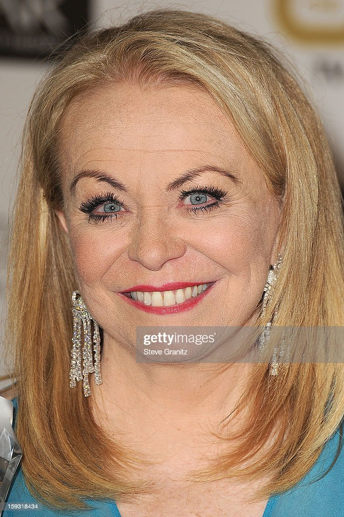 Jacki Weaver poses at the18th Annual Critics' Choice Movie Awards at The Barker Hanger on January 10, 2013 in Santa Monica, California.