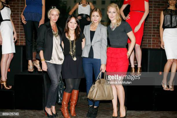 Jackie Astier Susan Woo Olivia Palermo and Lisa Salzer attend SUSAN WOO Spring/Summer 2010 Collection with Jewelry by Lulu Frost at Hudson Hotel on...