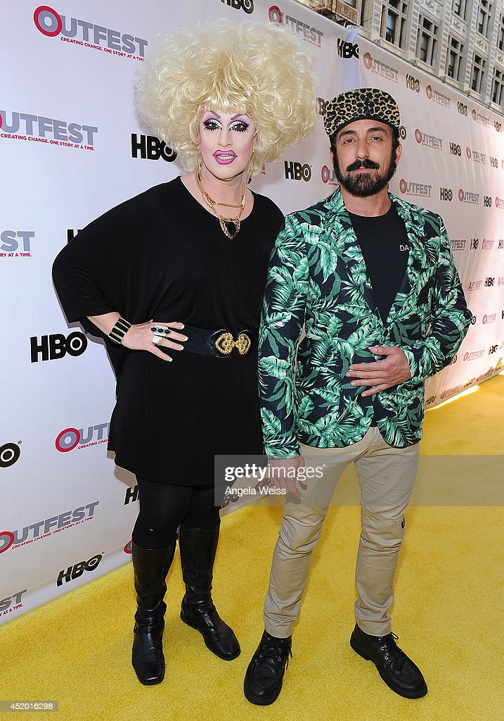 <a gi-track='captionPersonalityLinkClicked' href=/galleries/search?phrase=Jackie+Beat&family=editorial&specificpeople=2947888 ng-click='$event.stopPropagation()'>Jackie Beat</a> and Mario Diaz attend the 2014 Outfest opening night gala of 'Life Partners' at Orpheum Theatre on July 10, 2014 in Los Angeles, California.