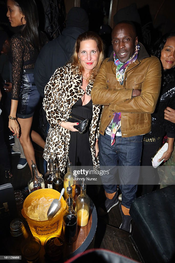 Jackie Brander and <a gi-track='captionPersonalityLinkClicked' href=/galleries/search?phrase=Michael+K.+Williams&family=editorial&specificpeople=855658 ng-click='$event.stopPropagation()'>Michael K. Williams</a> attend the after party for 'An Evening Celebrating Nas,' presented by Hennessy VS at Hyde Lounge on February 8, 2013, in West Hollywood, California.