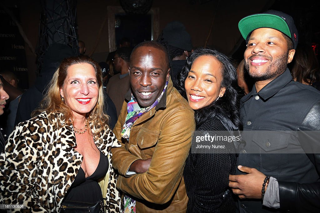 Jackie Brander Michael K Williams Sonja Sohn and guest attend the after party for 'An Evening Celebrating Nas' presented by Hennessy VS at Hyde...
