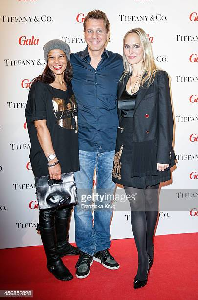 Jackie Brown Thomas Heinze and Anne MeyerMinnemann attend the Tiffany Gala Host 'Streetstyle Meets Red Carpet' Event on October 08 2014 in Berlin...