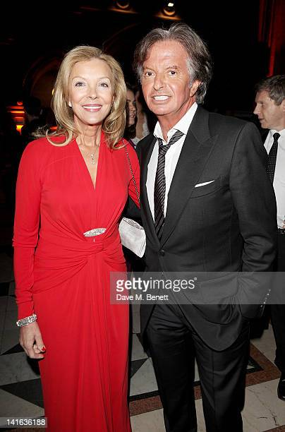 Jackie Caring and Richard Caring attend The Faberge Big Egg Hunt Grand Auction at the Royal Courts of Justice Strand on March 20 2012 in London...
