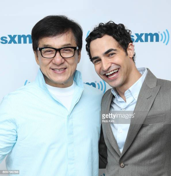 Jackie Chan and Zac Posen visit at SiriusXM Studios on October 10 2017 in New York City