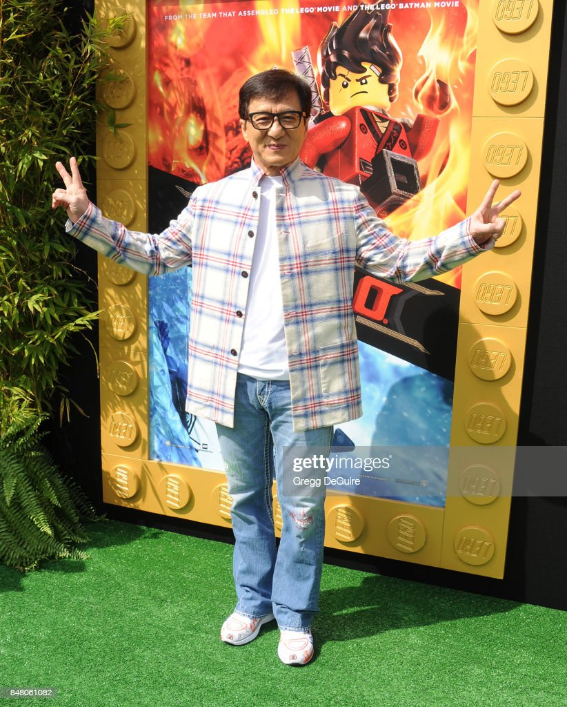 Jackie Chan arrives at the premiere of Warner Bros. Pictures' 'The LEGO Ninjago Movie' at Regency Village Theatre on September 16, 2017 in Westwood, California.