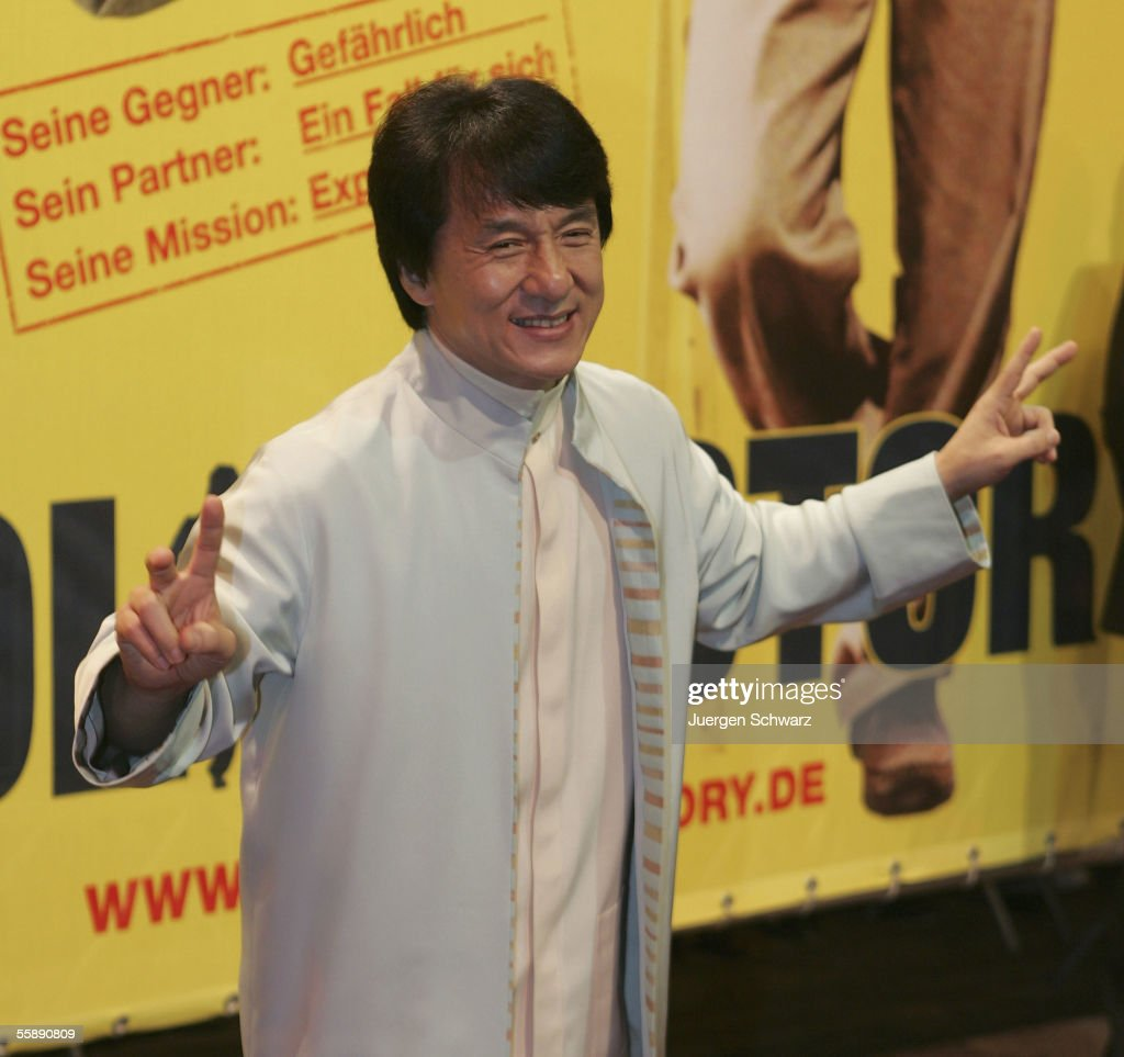 Jackie Chan arrives for the German premiere of New Police Story October 10, 2005 at the Cinedom in Cologne, Germany.