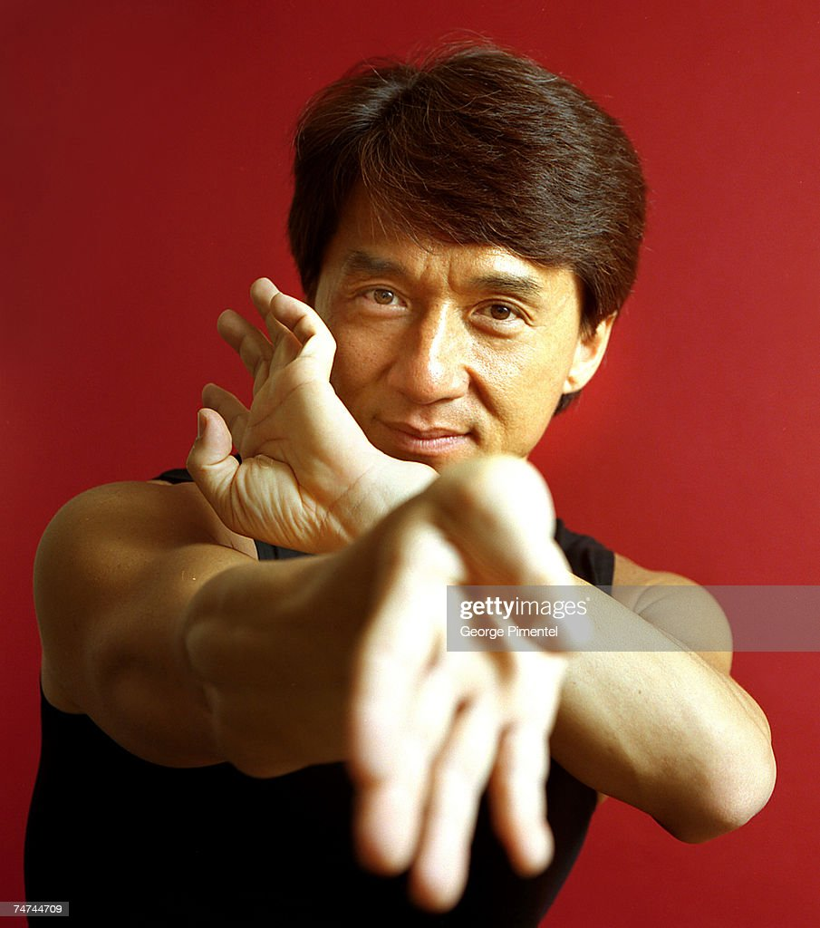 Jackie Chan at the Four Seasons Hotel in Toronto, Canada.