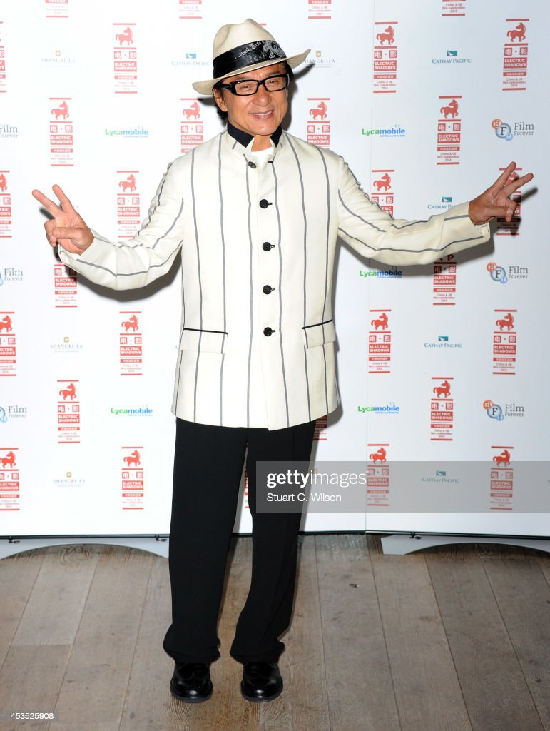 <a gi-track='captionPersonalityLinkClicked' href=/galleries/search?phrase=Jackie+Chan&family=editorial&specificpeople=171455 ng-click='$event.stopPropagation()'>Jackie Chan</a> attends a photocall to introduce a special screening of 'Chinese Zodiac' at BFI Southbank on August 12, 2014 in London, England.
