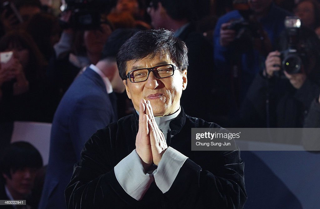 <a gi-track='captionPersonalityLinkClicked' href=/galleries/search?phrase=Jackie+Chan&family=editorial&specificpeople=171455 ng-click='$event.stopPropagation()'>Jackie Chan</a> attends the premiere of 'Police Story 2013' at IFC Mall on January 17, 2014 in Seoul, South Korea.