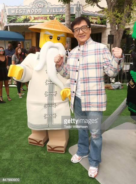 Jackie Chan attends the premiere of Warner Bros Pictures' 'The LEGO Ninjago Movie' at Regency Village Theatre on September 16 2017 in Westwood...
