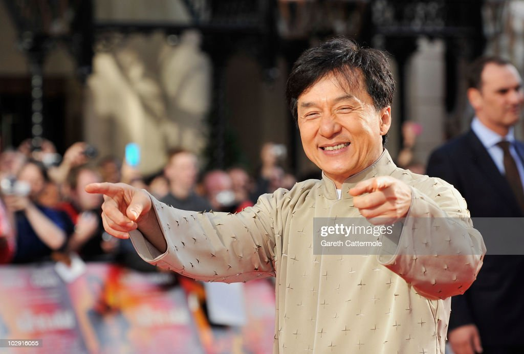 Jackie Chan attends the UK Film Premiere of The Karate Kid at Odeon Leicester Square on July 15, 2010 in London, England.