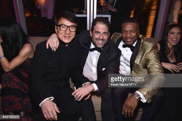 Jackie Chan Brett Ratner and Chris Tucker attend the 2017 Vanity Fair Oscar Party hosted by Graydon Carter at Wallis Annenberg Center for the...