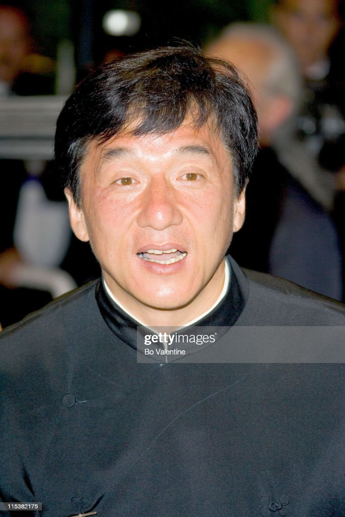 <a gi-track='captionPersonalityLinkClicked' href=/galleries/search?phrase=Jackie+Chan&family=editorial&specificpeople=171455 ng-click='$event.stopPropagation()'>Jackie Chan</a> during 2005 Cannes Film Festival - 'Sin City' Premiere at Palais des Festivals in Cannes, France.