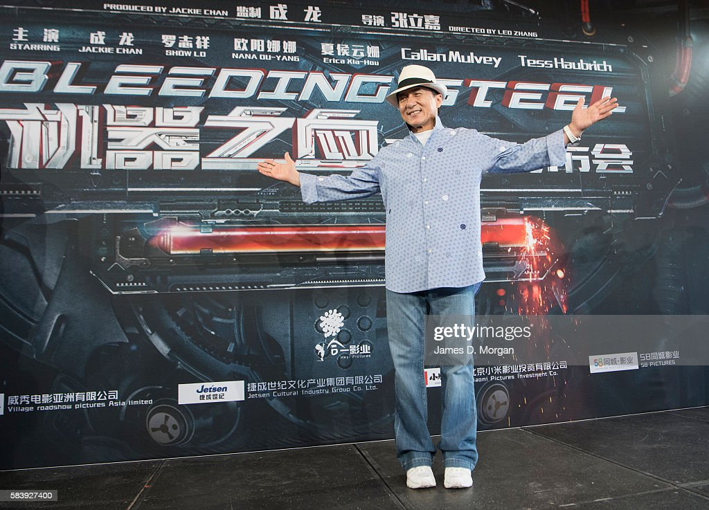 Jackie Chan during a press conference and photocall for Bleeding Steel at Sydney Opera House on July 28, 2016 in Sydney, Australia.