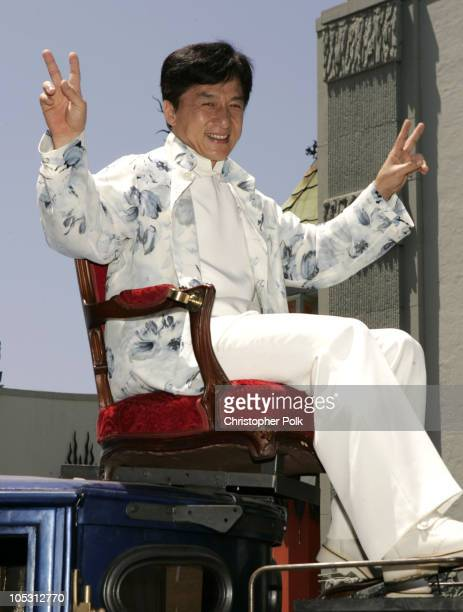 Jackie Chan during 'Around the World in 80 Days' Los Angeles Premiere Red Carpet at The El Capitan Theatre in Hollywood California United States