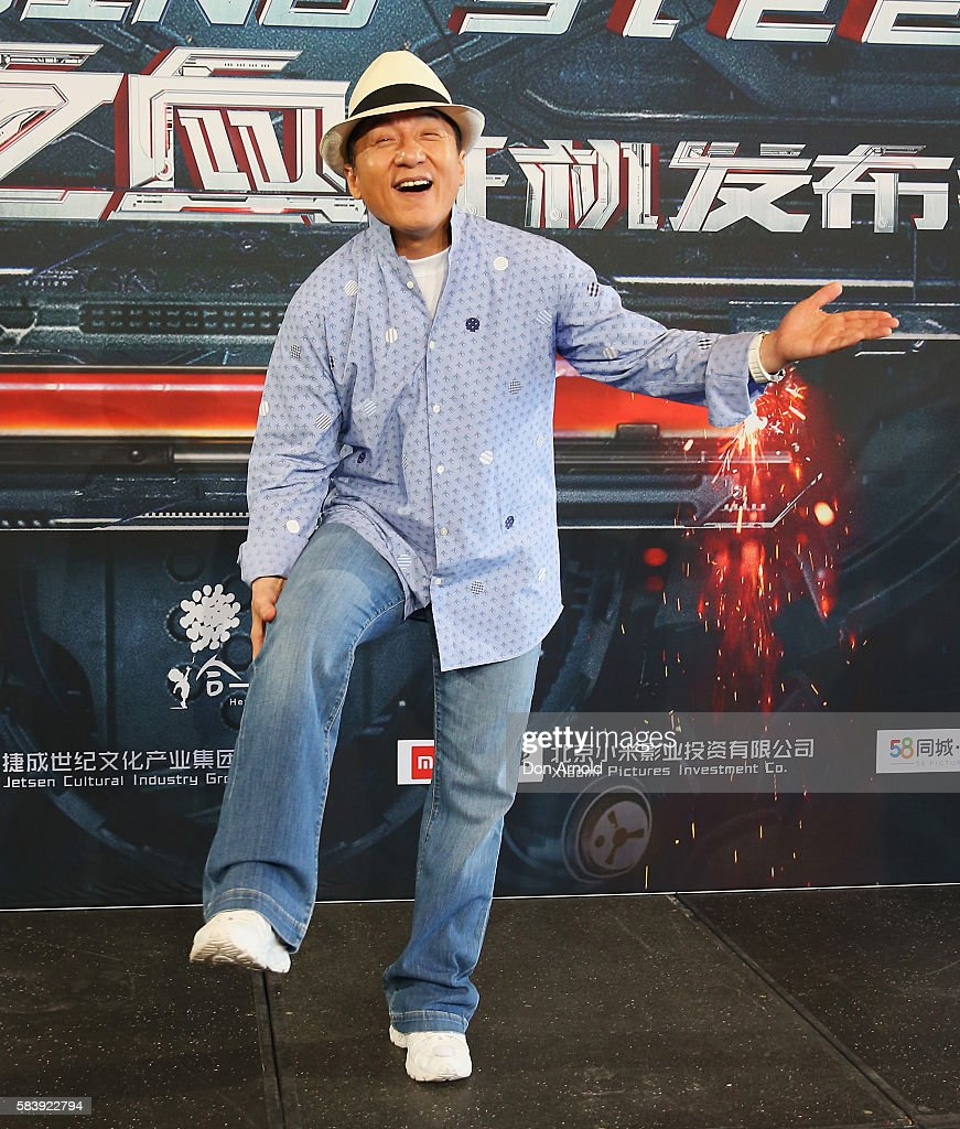 Jackie Chan poses during a press conference and photocall for Bleeding Steel at Sydney Opera House on July 28, 2016 in Sydney, Australia.