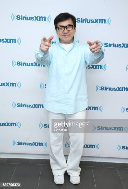 Jackie Chan visits at SiriusXM Studios on October 10 2017 in New York City