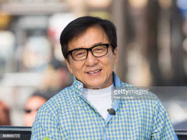 Jackie Chan visits 'Extra' at Universal Studios Hollywood on October 5 2017 in Universal City California