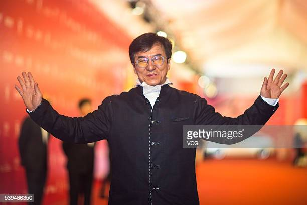 Jackie Chan walks the red carpet of the 19th Shanghai International Film Festival at Shanghai Grand Theatre on June 11 2016 in Shanghai China