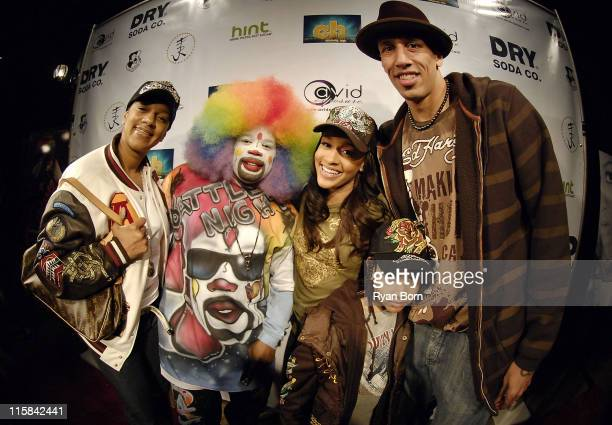 Jackie Christie Tommy the Clown Chantel 'Chani' Christie Doug Christie Jr and NBA Allstar Doug Christie arrive at Music Smash 2008 at the Celebrity...
