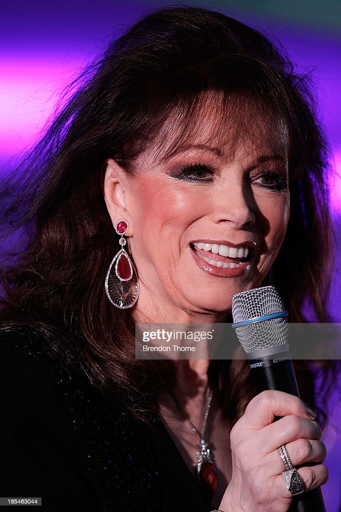Jackie Collins addresses guests at a cocktail event to celebrate the launch of her new book, 'Confessions of a Wild Child' on October 21, 2013 in Sydney, Australia.