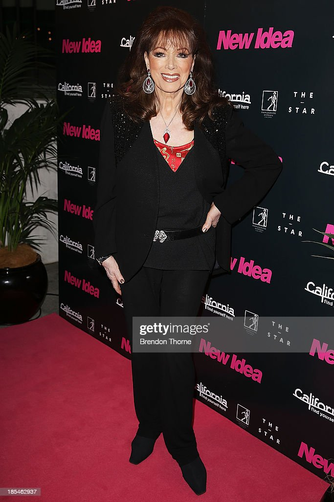 Jackie Collins arrives at a cocktail event to celebrate the launch of her new book, 'Confessions of a Wild Child' on October 21, 2013 in Sydney, Australia.