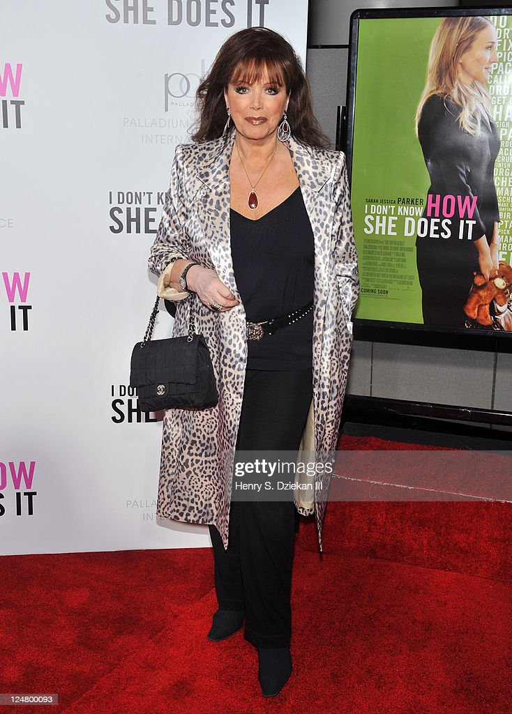 Jackie Collins attends The Weinstein Company The Cinema Society With QVC Palladium premiere of 'I Don't Know How She Does It' at AMC Loews Lincoln...