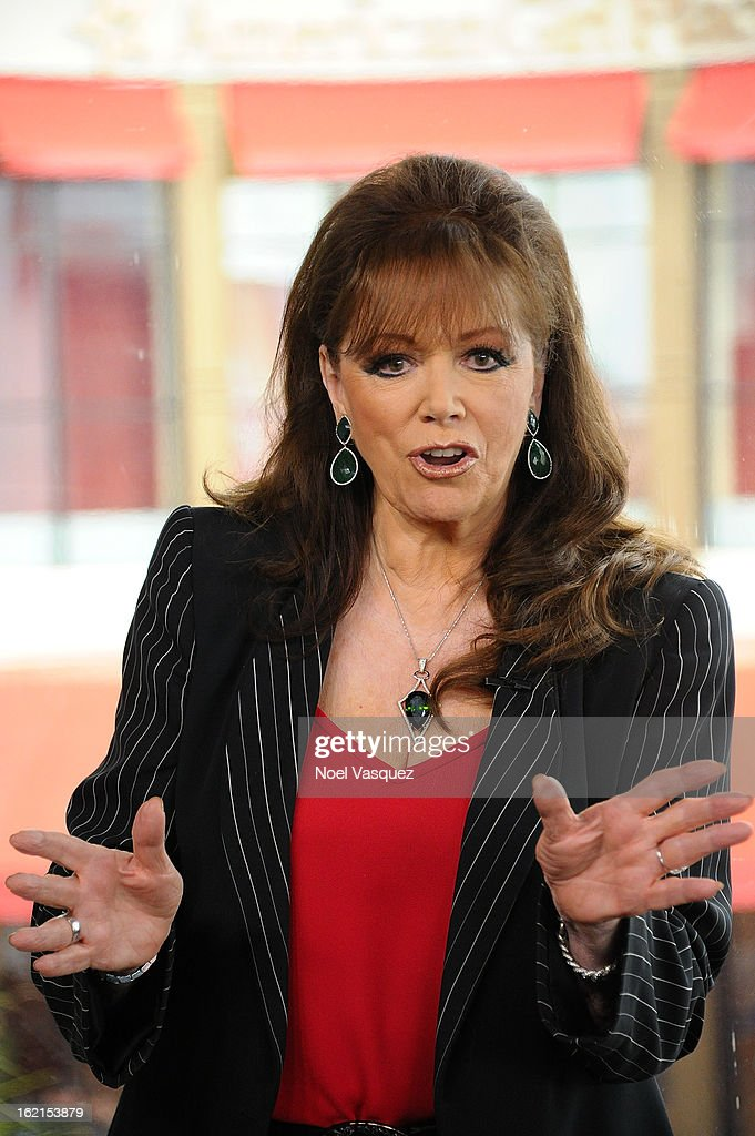 <a gi-track='captionPersonalityLinkClicked' href=/galleries/search?phrase=Jackie+Collins&family=editorial&specificpeople=123843 ng-click='$event.stopPropagation()'>Jackie Collins</a> visits Extra at The Grove on February 19, 2013 in Los Angeles, California.