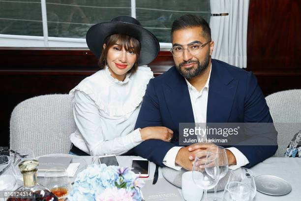 Jackie Cruise and guest attend the Remy Martin XO Dinner with Jackie Cruz on July 15 2017 in Paris France