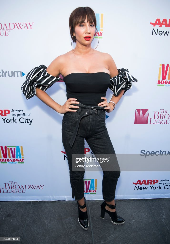 Jackie Cruz attends Viva Broadway to kick off Hispanic Heritage Month at Duffy Square in Times Square on September 15, 2017 in New York City.