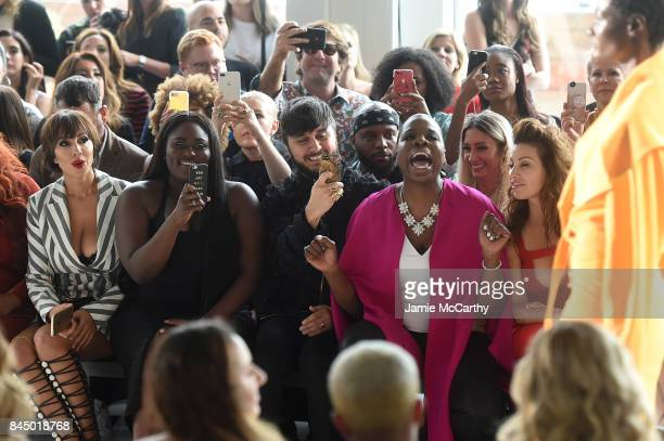 Jackie Cruz Danielle Brooks Brad Walsh Leslie Jones and Gina Gershon attend the Christian Siriano fashion show during New York Fashion Week The Shows...
