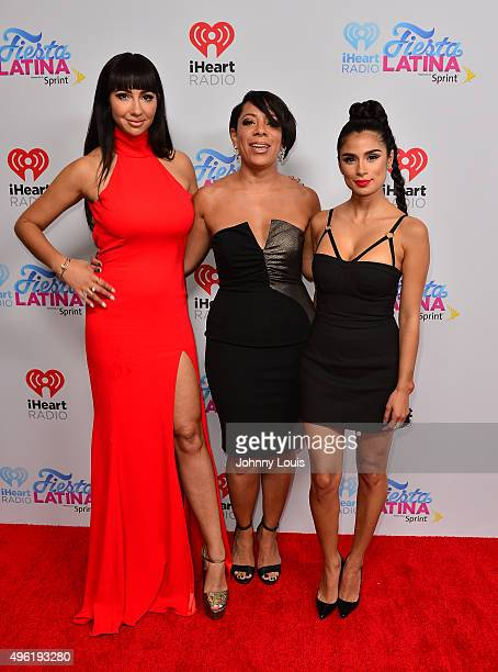 Jackie Cruz Diane Guerrero and Selenis Leyva arrive at I Heart Radio Festival Latina at American Airlines Arena on November 7 2015 in Miami Florida