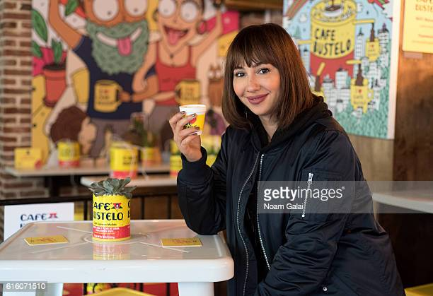 Jackie Cruz stops by the Café Bustelo PopUp Cafe on October 21 2016 in the Brooklyn borough of New York City