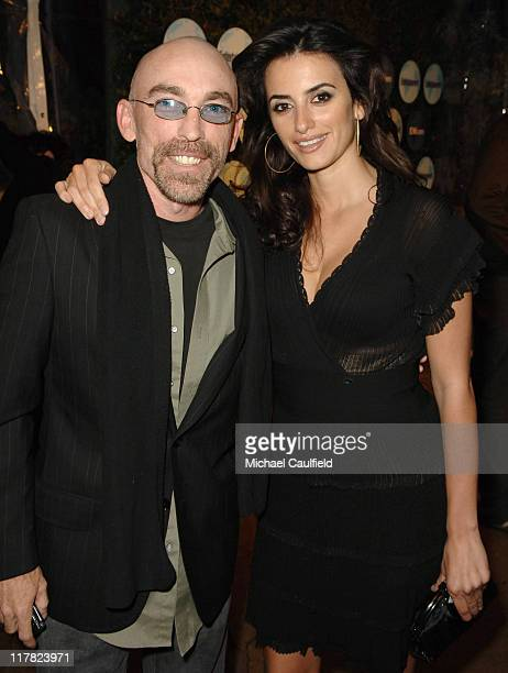 Jackie Earle Haley and Penelope Cruz at the Entertainment Weekly PreOscar Party 2007 *EXCLUSIVE*