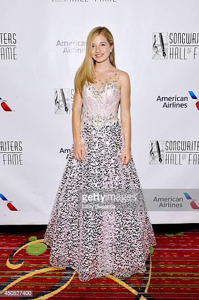 Jackie Evancho attends Songwriters Hall of Fame 45th Annual Induction And Awards at Marriott Marquis Theater on June 12 2014 in New York City