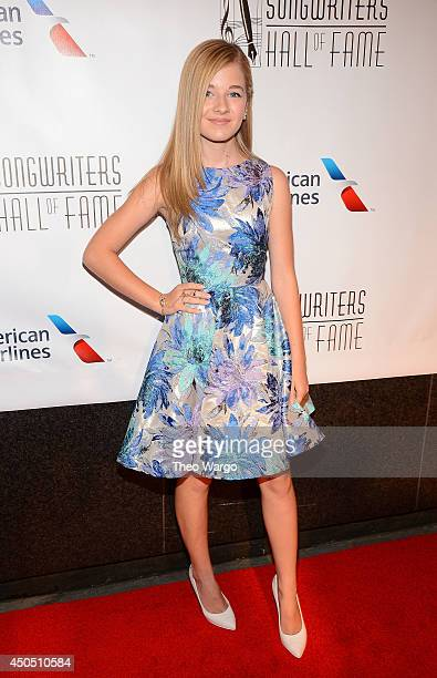 Jackie Evancho attends the Songwriters Hall of Fame 45th Annual Induction and Awards at Marriott Marquis Theater on June 12 2014 in New York City