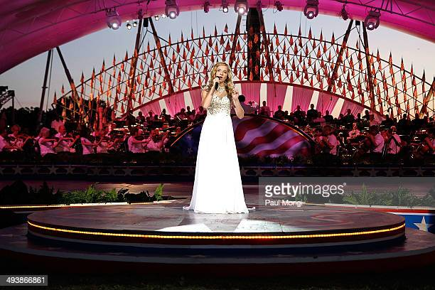 Jackie Evancho performs at the 25th National Memorial Day Concert at US Capitol West Lawn on May 25 2014 in Washington DC