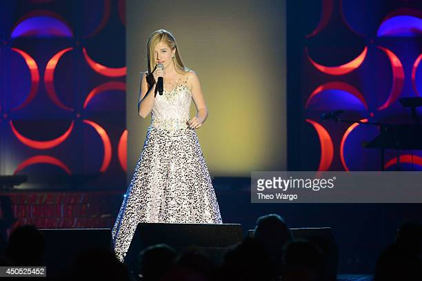 Jackie Evancho performs onstage at the Songwriters Hall of Fame 45th Annual Induction and Awards at Marriott Marquis Theater on June 12 2014 in New...