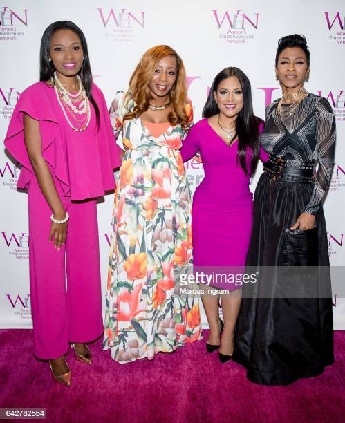 Jackie Flemming Lucinda Cross TV personality Lisa Nicole Cloud and Dr Sonja Stribling attend the 2017 WEN VIP Day And Power Brunch at The Westin...