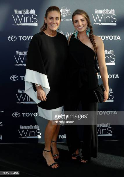 Jackie Frank and Jessica Fox arrive ahead of Women's Health Women In Sport Awards on October 18 2017 in Sydney Australia